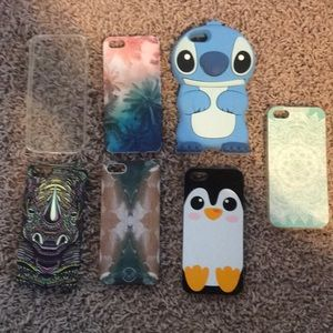 set of 7 iPhone 5 cases